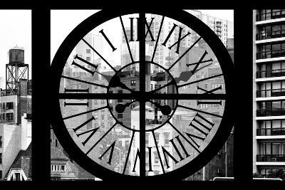 Giant Clock Window - View of the Buildings of Sutton Place - New York II-Philippe Hugonnard-Photographic Print
