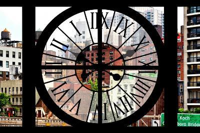 Giant Clock Window - View of the Buildings of Sutton Place - New York-Philippe Hugonnard-Photographic Print