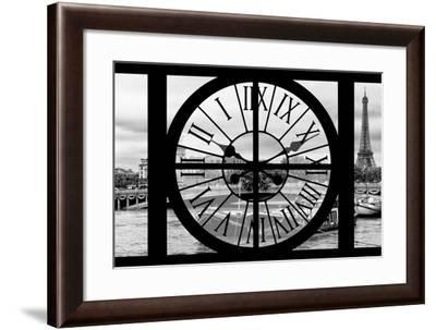 Giant Clock Window - View of the Pont Alexandre III and Eiffel Tower in Paris-Philippe Hugonnard-Framed Photographic Print