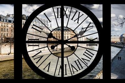 Giant Clock Window - View of the Quai de Seine in Paris III-Philippe Hugonnard-Photographic Print