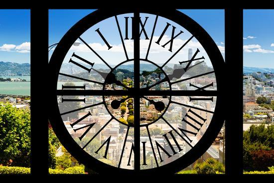 Giant Clock Window - View of the San Francisco City-Philippe Hugonnard-Photographic Print