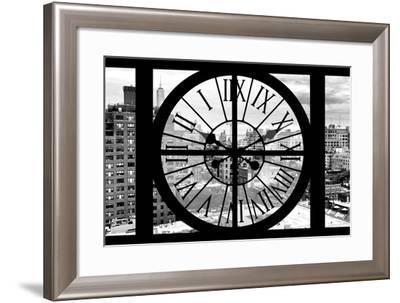 Giant Clock Window - View on Lower Manhattan - New York City III-Philippe Hugonnard-Framed Photographic Print