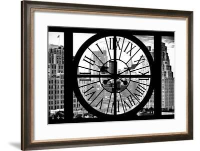 Giant Clock Window - View on Meatpacking District - Manhattan II-Philippe Hugonnard-Framed Photographic Print