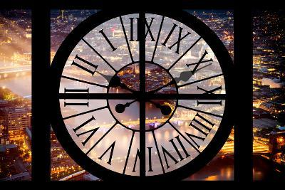 Giant Clock Window - View on the City of London by Night III-Philippe Hugonnard-Photographic Print