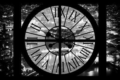 Giant Clock Window - View on the City of London by Night IV-Philippe Hugonnard-Photographic Print