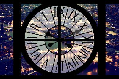 Giant Clock Window - View on the City of London by Night IX-Philippe Hugonnard-Photographic Print
