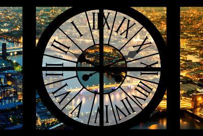 Giant Clock Window - View on the City of London by Night VI-Philippe Hugonnard-Photographic Print