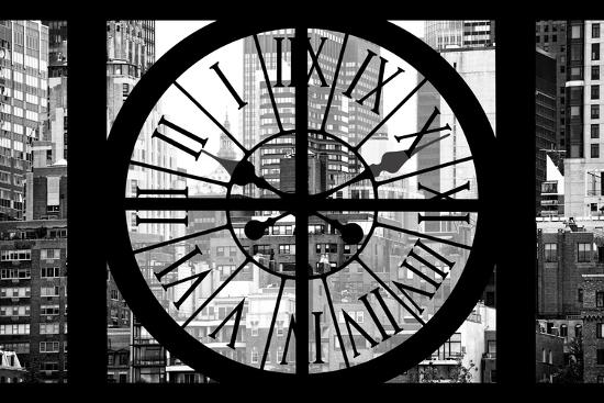 Giant Clock Window - View on Turtle Bay Buildings - New York City-Philippe Hugonnard-Photographic Print