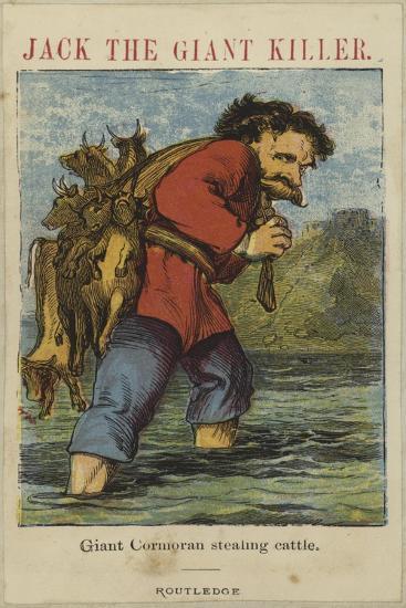 Giant Cormoran Stealing Cattle--Giclee Print