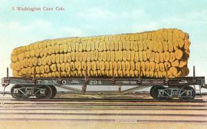Giant Corn Cob on Flatbed, Washington