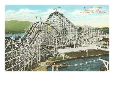 Giant Dipper Roller Coaster, Vancouver, British Columbia--Art Print