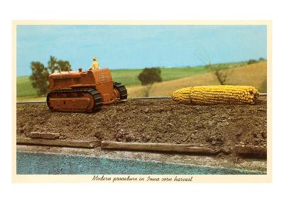 Giant Ear of Corn Towed by Tractor, Iowa--Art Print