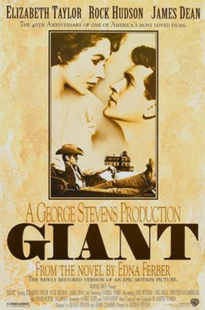 Giant, Elizabeth Taylor, James Dean, Rock Hudson, Re-Issue Poster, 1996