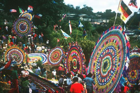 Giant Kite Festival, All Souls All Saints Day, Guatemala--Photographic Print