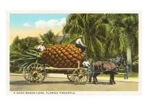Giant Pineapple on Wagon, Florida