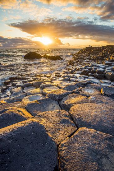 Giant's Causeway, County Antrim,  Ulster region, northern Ireland, United Kingdom. Iconic basalt co-Marco Bottigelli-Photographic Print