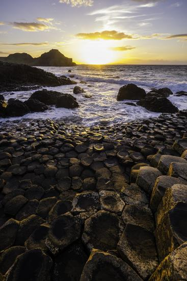 Giant's Causeway Lies at the Foot of Basalt Cliffs on the Edge of the Antrim Plateau-Jonathan Irish-Photographic Print