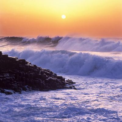 Giant's Causeway on the North Coast of Northern Ireland at Sunset-Chris Hill-Photographic Print