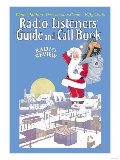 Giant Santa with Radio Components--Art Print