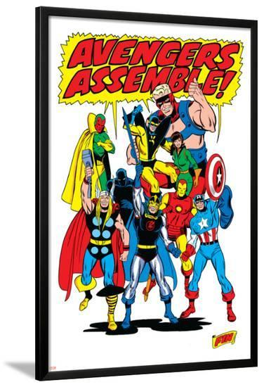 Giant-Size Avengers/Invaders No.1 Group: Thor-Sal Buscema-Lamina Framed Poster