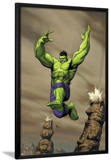 Giant-Size Incredible Hulk No.1 Cover: Hulk-Gary Frank-Lamina Framed Poster