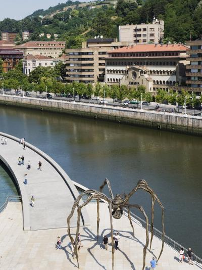 Giant Spider Sculpture by Louise Bourgeois, Nervion River, Bilbao, Basque Country, Spain, Europe-Christian Kober-Photographic Print