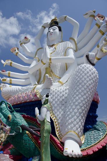 Giant Statue of Kwan Yin, Buddhist Goddess, Wat Plai Laem, Ko Samui, Thailand-Cindy Miller Hopkins-Photographic Print