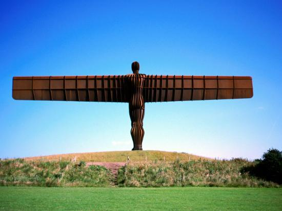 Giant Steel Structure of 'the Angel of the North-David Else-Photographic Print