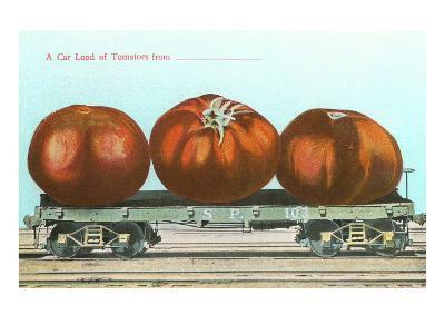 Giant Tomatoes on Flatbed--Art Print