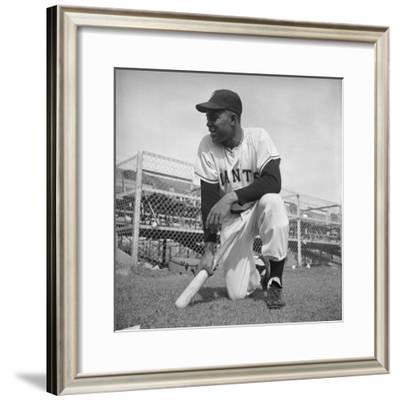 Giants Baseball Player Willy Mayes Playing Pepper at Phoenix Training Camp-Loomis Dean-Framed Premium Photographic Print