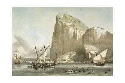 Gibraltar from the Anchorage. Litography--Giclee Print