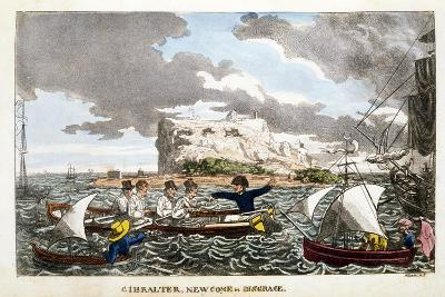 Gibraltar: Newcome in Disgrace Plate from 'The Adventures of Johnny Newcome in the Navy' by John Mi--Giclee Print