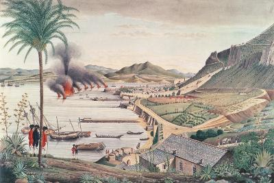 Gibraltar on the Morning after the Great Franco-Spanish Attack, 1783-Thomas Davies-Giclee Print