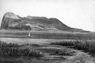 Gibraltar Rock from Campo, Early 20th Century-VB Cumbo-Giclee Print