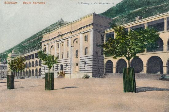 'Gibraltar - South Barracks', 1900-Unknown-Giclee Print