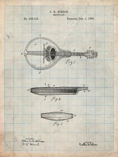 Gibson Mandolin a - Model Patent-Cole Borders-Art Print