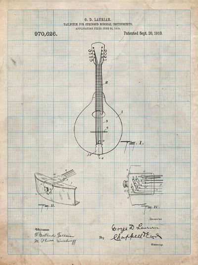 Gibson Mandolin Tailpiece Patent-Cole Borders-Art Print