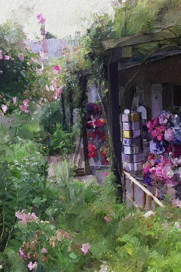 Gift Shop at Giverny-Sarah Butcher-Premium Giclee Print