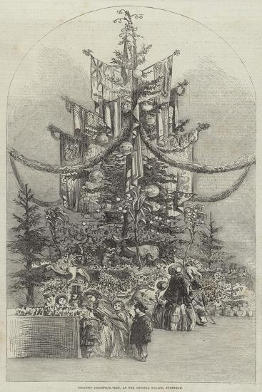 Gigantic Christmas-Tree, at the Crystal Palace, Sydenham--Giclee Print