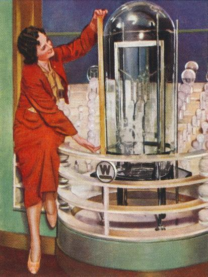 Gigantic electric lamp, 1938-Unknown-Giclee Print