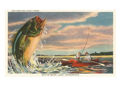Gigantic Fish, White Bear Lake, Minnesota--Art Print