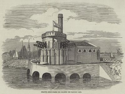 Gigantic Steam-Engine for Draining the Haarlem Lake--Giclee Print