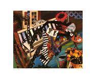 Woman on Porch Swing-Gigi Boldon-Art Print