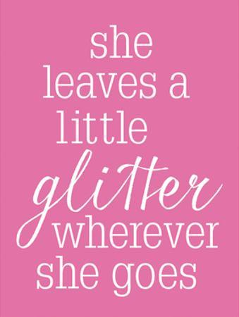 She Glitter PINK by Gigi Louise