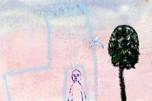 My Castle, a Seagull and a Cyprus Tree, 2005 by Gigi Sudbury