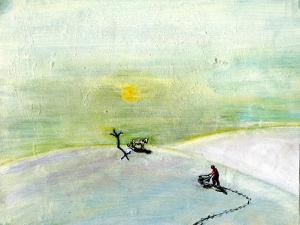 My Wheelbarrow and the Snow Tiger, 2004 by Gigi Sudbury