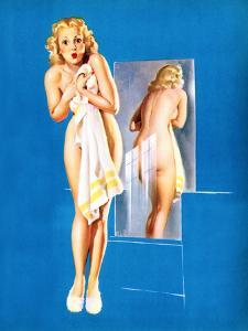 Double Exposure Pin-Up 1940 by Gil Elvgren