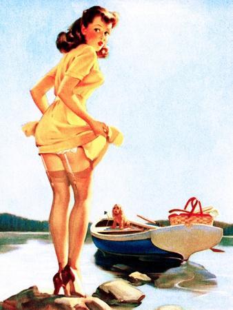 Slip Off Shore Pin-Up 1944