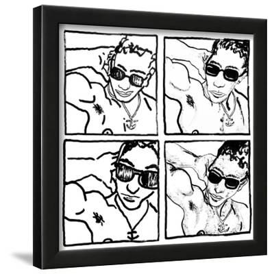 Gil, July 14, 1988-Keith Haring-Framed Giclee Print
