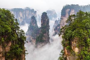 Zhangjiajie National Park in China Hunan Province Covered with Clouds by Gil K